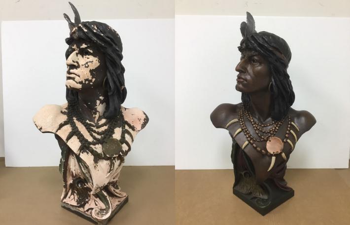 Native American Statue Restoration